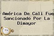 <b>América De Cali</b> Fue Sancionado Por La Dimayor