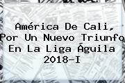<b>América De Cali</b>, Por Un Nuevo Triunfo En La Liga Águila 2018-I