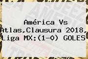 <b>América Vs Atlas</b>,Clausura 2018, Liga MX:(1-0) GOLES