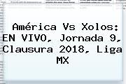 América Vs Xolos: EN VIVO, <b>Jornada 9</b>, Clausura <b>2018</b>, <b>Liga MX</b>