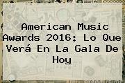 <b>American Music Awards 2016</b>: Lo Que Verá En La Gala De Hoy