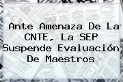 Ante Amenaza De La CNTE, La <b>SEP</b> Suspende Evaluación De Maestros