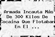 Armada Incauta Más De 300 Kilos De Cocaína Que Flotaban En El ...