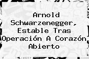 <b>Arnold Schwarzenegger</b>, Estable Tras Operación A Corazón Abierto