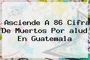Asciende A 86 Cifra De Muertos Por <b>alud</b> En Guatemala