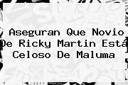 Aseguran Que Novio De <b>Ricky Martin</b> Está Celoso De <b>Maluma</b>