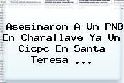 Asesinaron A Un PNB En Charallave Ya Un Cicpc En Santa Teresa ...