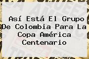 Así Está El Grupo De Colombia Para La <b>Copa América Centenario</b>