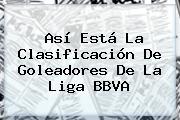 Así Está La Clasificación De Goleadores De La <b>Liga BBVA</b>