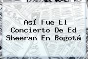 Así Fue El Concierto De <b>Ed Sheeran</b> En Bogotá