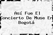 Así Fue El Concierto De <b>Muse</b> En Bogotá