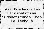 Así Quedaron Las <b>Eliminatorias</b> Sudamericanas Tras La Fecha 8