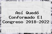 Así Quedó Conformado El Congreso 2018-2022