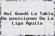 Así Quedó La Tabla De <b>posiciones</b> De La <b>Liga Águila</b>