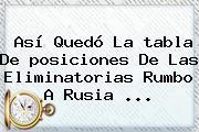 Así Quedó La <b>tabla</b> De <b>posiciones</b> De Las <b>Eliminatorias</b> Rumbo A <b>Rusia</b> ...