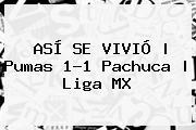 ASÍ SE VIVIÓ   <b>Pumas</b> 1-1 <b>Pachuca</b>  <b> Liga MX