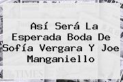Así Será La Esperada Boda De <b>Sofía Vergara</b> Y Joe Manganiello