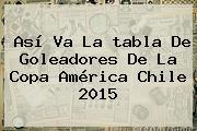 Así Va La <b>tabla</b> De Goleadores De La <b>Copa América</b> Chile <b>2015</b>