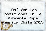 Así Van Las <b>posiciones</b> En La Vibrante <b>Copa América</b> Chile 2015