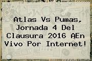 Atlas Vs Pumas, <b>Jornada 4</b> Del <b>Clausura 2016</b> ¡En Vivo Por Internet!
