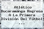 <b>Atlético Bucaramanga</b> Regresa A La Primera División Del Fútbol <b>...</b>