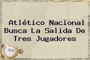 Atlético <b>Nacional</b> Busca La Salida De Tres Jugadores