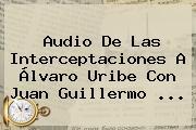 Audio De Las Interceptaciones A Álvaro Uribe Con <b>Juan Guillermo</b> ...