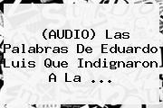 (AUDIO) Las Palabras De <b>Eduardo Luis</b> Que Indignaron A La ...