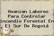 Avanzan Labores Para Controlar <b>incendio</b> Forestal En El Sur De <b>Bogotá</b>