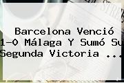 <b>Barcelona</b> Venció 1-0 Málaga Y Sumó Su Segunda Victoria <b>...</b>