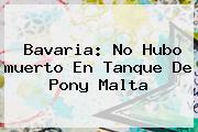 Bavaria: No Hubo <b>muerto En Tanque De Pony Malta</b>