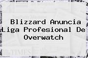Blizzard Anuncia Liga Profesional De <b>Overwatch</b>