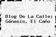 Blog De La Calle: <b>Génesis</b>, El Caño