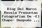 <b>Blog Del Narco</b> Revela Presuntas Fotografías De ?El Chapo? Después <b>...</b>