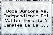 <b>Boca Juniors</b> Vs. Independiente Del Valle: Horario Y Canales De La ...