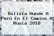 <b>Bolivia</b> Hunde A <b>Perú</b> En El Camino A Rusia 2018