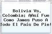 <b>Bolivia Vs</b>. <b>Colombia</b>: ¡Así Fue Como James Puso A Todo El País De Pie!