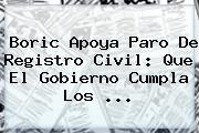 Boric Apoya Paro De <b>Registro Civil</b>: Que El Gobierno Cumpla Los <b>...</b>