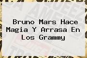 Bruno Mars Hace Magia Y Arrasa En Los <b>Grammy</b>