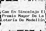 Cae En Sincelejo El Premio Mayor De La <b>Lotería De Medellín</b>