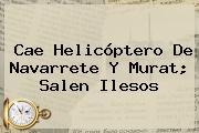 Cae Helicóptero De <b>Navarrete</b> Y Murat; Salen Ilesos