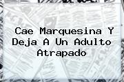 <b>Cae Marquesina Y Deja A Un Adulto Atrapado</b>