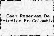 Caen Reservas De Petróleo En Colombia