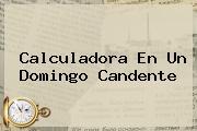 <i>Calculadora En Un Domingo Candente</i>