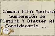 Cámara <b>FIFA</b> Apelará Suspensión De Platini Y Blatter Al Considerarla <b>...</b>
