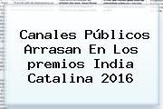 Canales Públicos Arrasan En Los <b>premios India Catalina 2016</b>