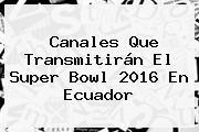 Canales Que Transmitirán El <b>Super Bowl 2016</b> En Ecuador