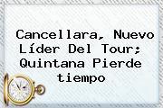 Cancellara, Nuevo Líder Del Tour; Quintana Pierde <b>tiempo</b>