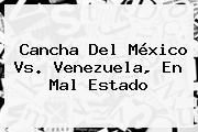 Cancha Del <b>México Vs. Venezuela</b>, En Mal Estado
