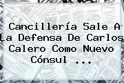 Cancillería Sale A La Defensa De <b>Carlos Calero</b> Como Nuevo Cónsul ...